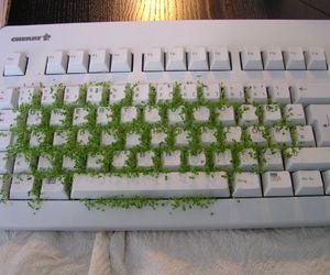 green, keyboard, and grunge image