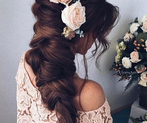 flowers, beautiful, and braid image