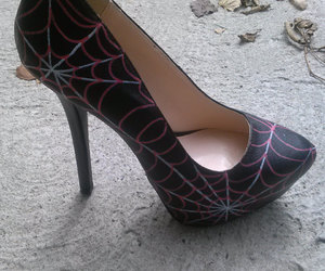 black shoes, fashion, and Halloween image