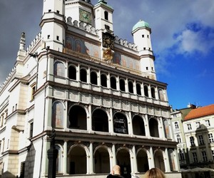 architecture, town hall, and poznań image