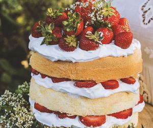 buttercream, cream cake, and naked cake image