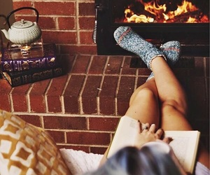 autumn, fire, and socks image