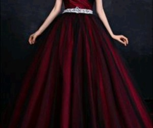 dress, kleid, and red image