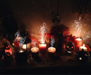 candles and Halloween image