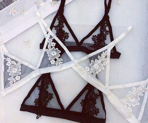 lingerie, black, and bralette image