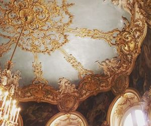 gold, aesthetic, and architecture image