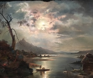 art, Darkness, and hills image