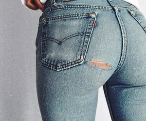 beautiful, jeans, and levi's image