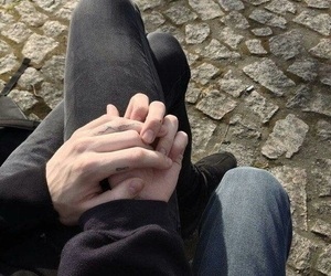 couple, hands, and grunge image