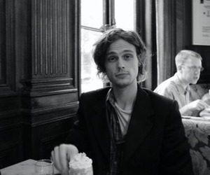 matthew gray gubler, criminal minds, and black and white image