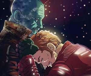 Marvel, yondu, and peter quill image