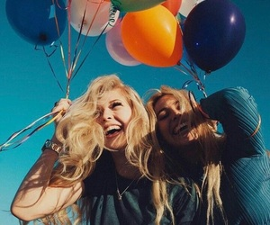 balloons, clothing, and happiness image