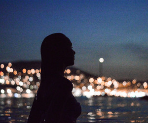 girl and night image