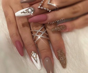 glitter, jewelry, and Nude image