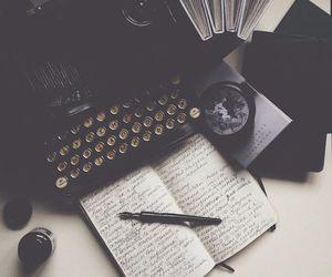journal, journaling, and typewriter image