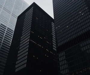 black, aesthetic, and building image