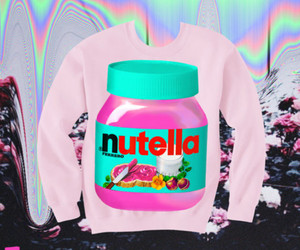 blue, pastel goth, and nutella image