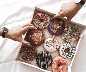breakfast, delicious, and donuts image