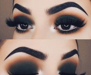 aesthetic, smokey eyes, and makeup look image
