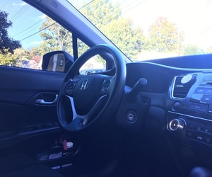 black on black, civic, and Honda image