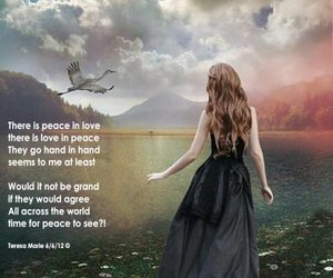 peace, poetry, and world peace image