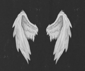 angel, wings, and wallpaper image