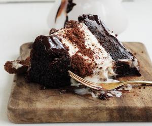 cake, chocolate, and food image