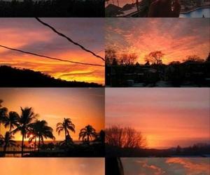sun, sky, and orange image