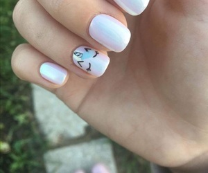 nails, art, and unicorn image