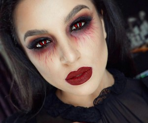 Halloween, makeup, and vampire image