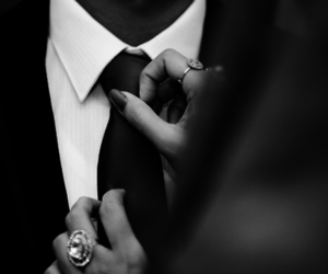 couple, tie, and suit image