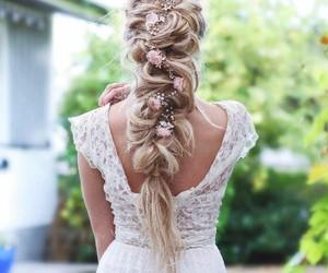 braid, braided, and dress image