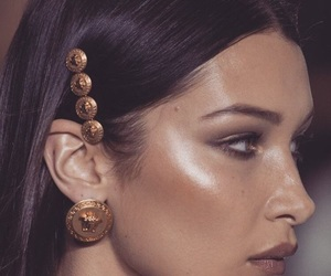 bella hadid, model, and makeup image