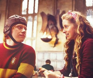 harry potter, ron weasley, and lavender brown image