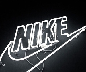 nike, light, and black image