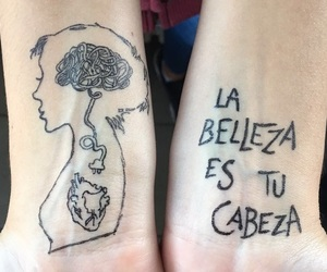beauty, brain, and drawing image