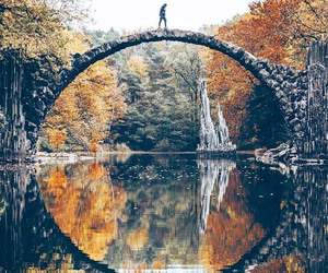bridge, beautiful, and nature image