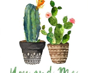 art, plants, and cactus image