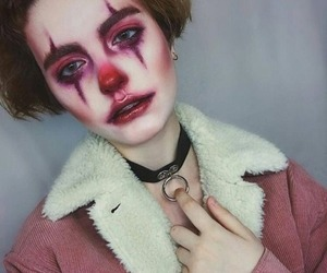 Halloween, clown, and makeup image