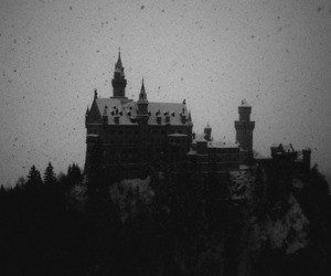 ancient, blackandwhite, and castle image