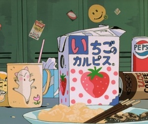 anime, food, and aesthetic image