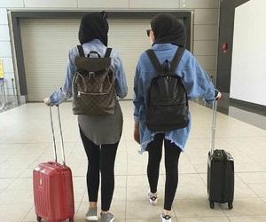 hijab, travel, and postbad image