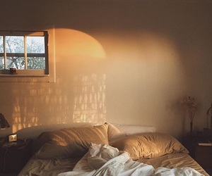 bed, light, and Nude image