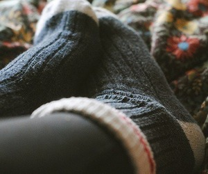 socks, autumn, and cozy image