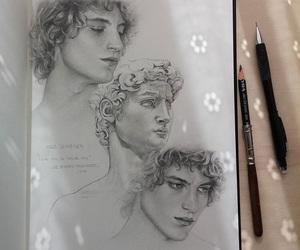 aesthetic art, guy drawing, and guy art image