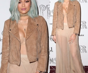 blue hair, kylie jenner, and cute image
