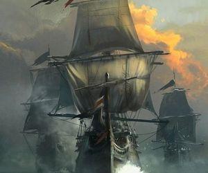 pirate, fantasy, and ocean image