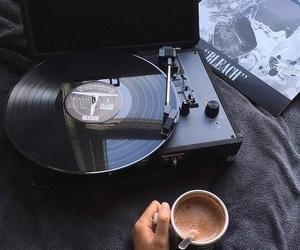 music, article, and coffee image