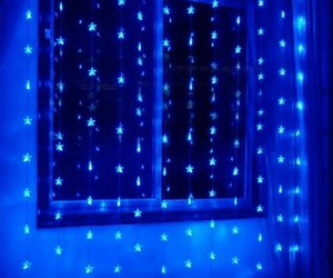 blue, Darkness, and lights image