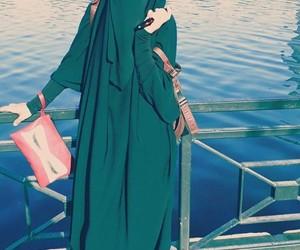 blue, hijab, and life image